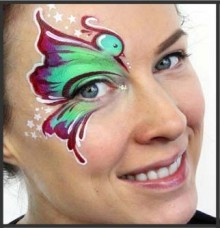 Ashlea Henson Face Painting training course in Southampton
