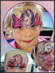 Unicorn Face Painting Training Course in Southampton